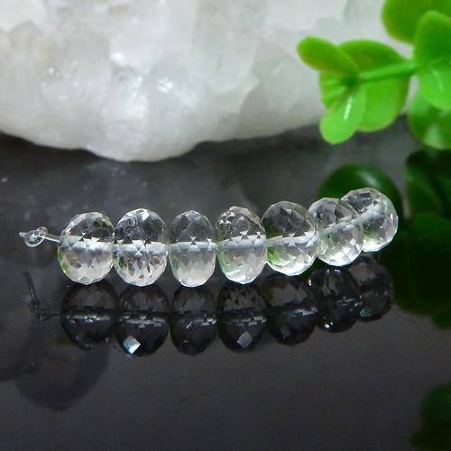 【特価品】クォーツ(水晶)AAA- ボタンカット 約4×6mm(0.4mm穴)-0