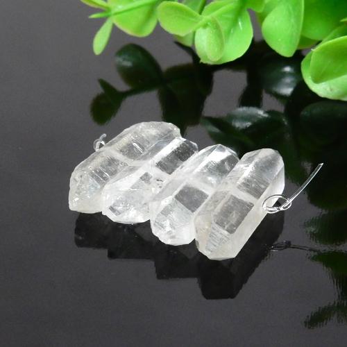 クォーツ(水晶) AAA- ダブルポイント 約8×23mm程度 003