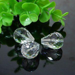 クォーツ(水晶) AAA 縦穴ドロップカット 約12×16mm(BS001DRC1216AAA)