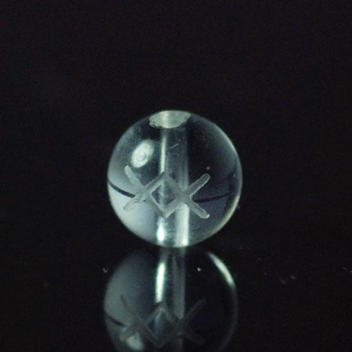 クォーツ(水晶) AAA ラウンド 6mm(ルーンINGイング彫り)-0
