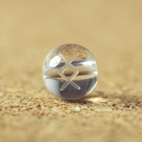 クォーツ(水晶) AAA ラウンド 6mm(ルーンINGイング彫り)-1