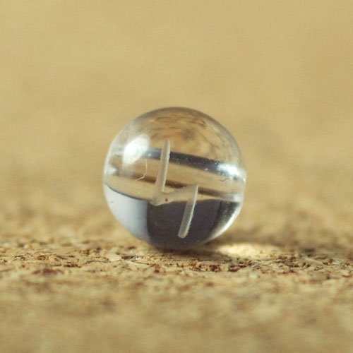 クォーツ(水晶) AAA ラウンド 6mm(ルーンSIGELシゲル彫り)-1