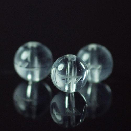 クォーツ(水晶) AAA ラウンド 6mm(ルーンAESCアッシュ彫り)
