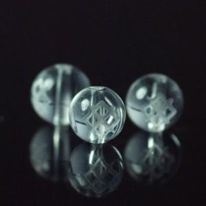 クォーツ(水晶) AAA ラウンド 6mm(ルーンGARガー彫り)