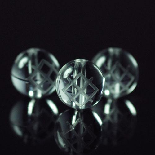 クォーツ(水晶) AAA ラウンド 8mm(ルーンGARガー彫り)