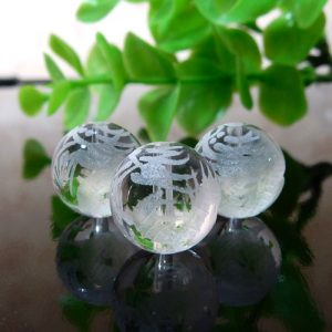 クォーツ(水晶) AAA ラウンド 12mm(龍彫り)