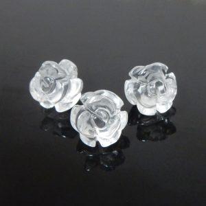 クォーツ(水晶) 薔薇(ローズ) 約10mm(BS001RS10)