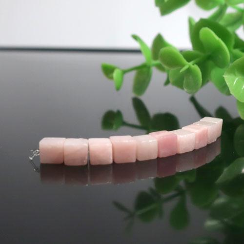 ピンクオパール AA++ キューブ 約4.5mm-0