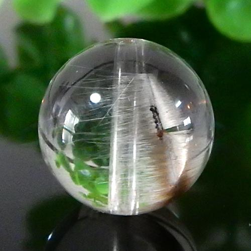 プラチナルチルクォーツ AAA ラウンド 約13.5mm 006-0