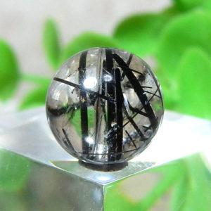 ブラックルチルクォーツ(トルマリンクォーツ) AAA- ラウンド 約9mm程度 014