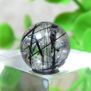 ブラックルチルクォーツ(トルマリンクォーツ) AAA- ラウンド 約9.2mm程度 018