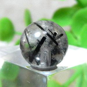 ブラックルチルクォーツ(トルマリンクォーツ) AAA- ラウンド 約9.2mm程度 020