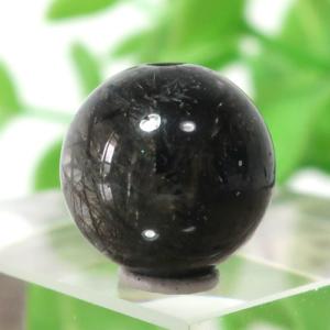 ブラックガーデンルチルクォーツ AAA- ラウンド 11.3mm 011