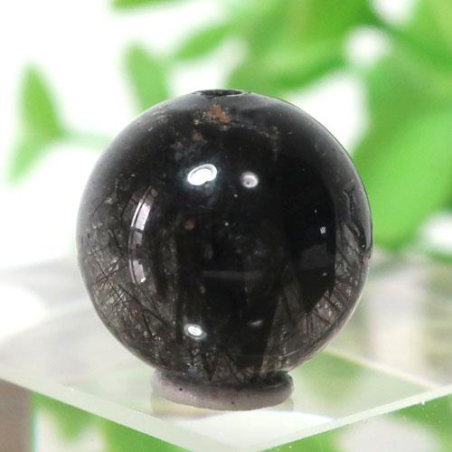 ブラックガーデンルチルクォーツ AAA- ラウンド 11.3mm 012-0