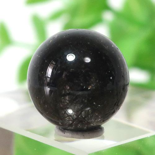 ブラックガーデンルチルクォーツ AAA- ラウンド 11.3mm 013-0