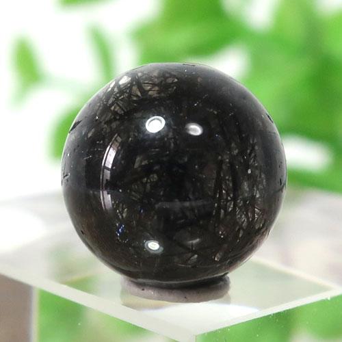 ブラックガーデンルチルクォーツ AAA- ラウンド 11.3mm 014-0