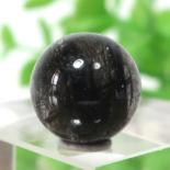 ブラックガーデンルチルクォーツ AAA- ラウンド 11.3mm 015
