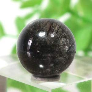 ブラックガーデンルチルクォーツ AAA- ラウンド 11.4mm 018