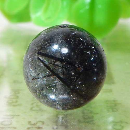 ブラックルチルクォーツ(トルマリンクォーツ) AA++ ラウンド 12.5mm 009
