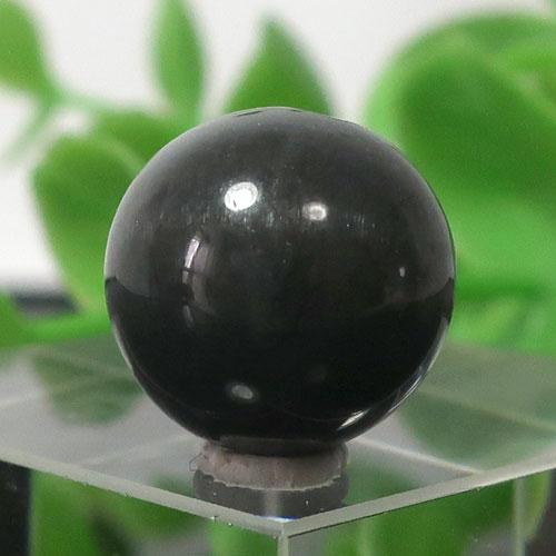 ブラックラブラドライト AA++ ラウンド 約12.5mm程度 016-0