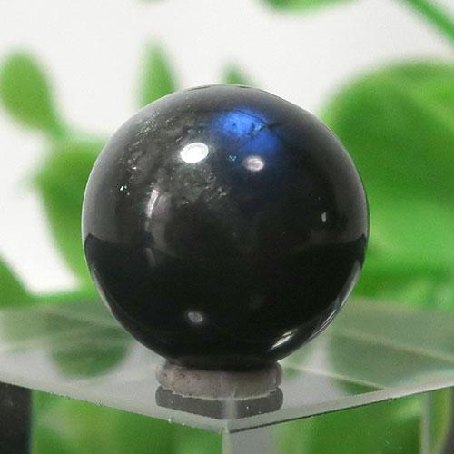 ブラックラブラドライト AA++ ラウンド 約12.5mm程度 016
