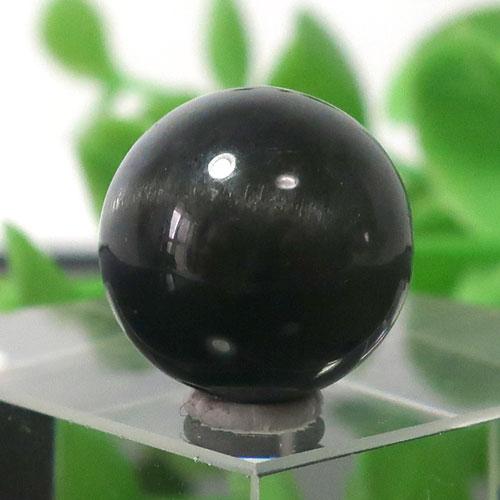 ブラックラブラドライト AA++ ラウンド 約12.5mm程度 018-0