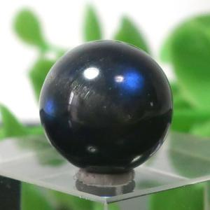 ブラックラブラドライト AA++ ラウンド 約12.5mm程度 018