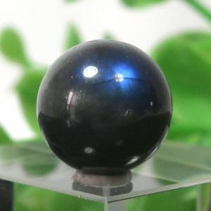 ブラックラブラドライト AA++ ラウンド 約12.5mm程度 020