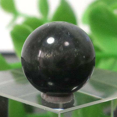 ブラックラブラドライト AA++ ラウンド 約12.5mm程度 021-0