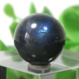 ブラックラブラドライト AA++ ラウンド 約12.5mm程度 021