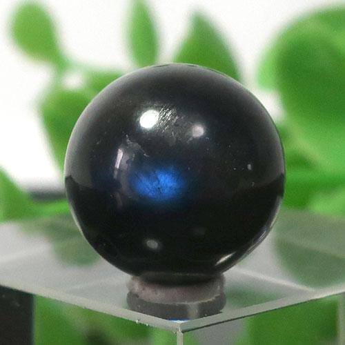 ブラックラブラドライト AA++ ラウンド 約12.5mm程度 022-0