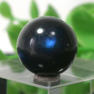 ブラックラブラドライト AA++ ラウンド 約12.5mm程度 022