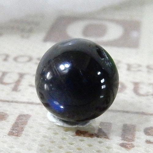 ブラックラブラドライト AAA- ラウンド 9mm 003-0