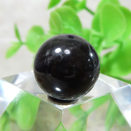 ブラックラブラドライト AAA- ラウンド 約11.5mm 004-0