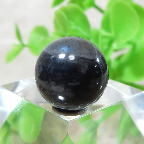 ブラックラブラドライト AAA- ラウンド 約11.5mm 010-0