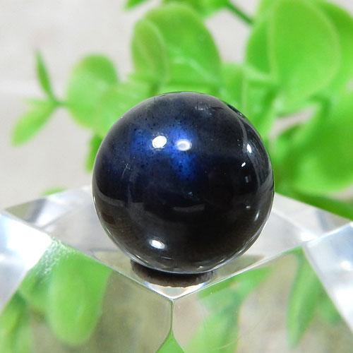 ブラックラブラドライト AAA- ラウンド 約11.5mm 010