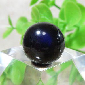 ブラックラブラドライト AAA- ラウンド 約11.5mm 013