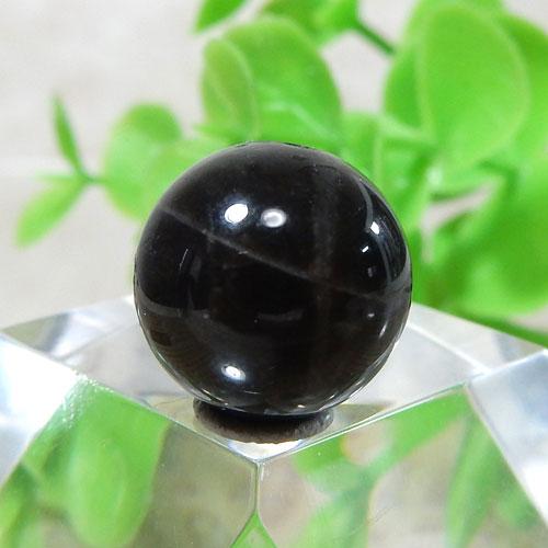ブラックラブラドライト AAA- ラウンド 約11.5mm 014-0