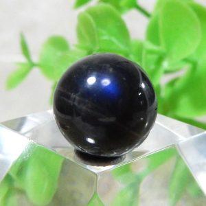 ブラックラブラドライト AAA- ラウンド 約11.5mm 014
