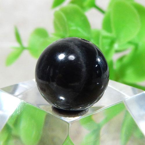 ブラックラブラドライト AAA- ラウンド 約11.5mm 015-0