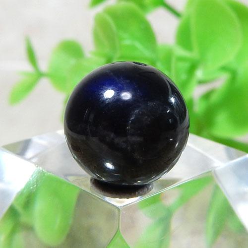 ブラックラブラドライト AAA- ラウンド 約11.5mm 015
