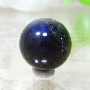 マダガスカル産ブラックラブラドライト AA++ ラウンド 約11mm 015