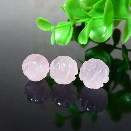 ローズクォーツ AAA- 薔薇カット 10mm-0