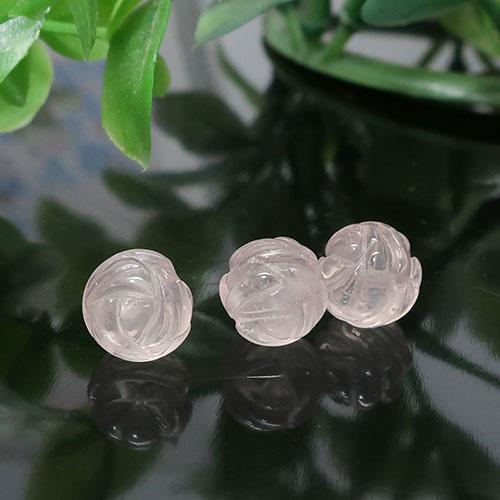 マダガスカル産ローズクォーツ AAA- 薔薇カット 10mm-1