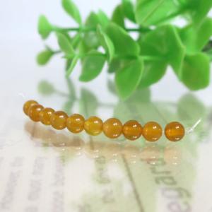 オレンジイエローカルセドニー ラウンド 約4.5mm(BS048RD045OR)