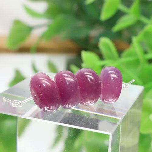 ルビー AA++ ボタン 約4.3×8.3mm程度 004-0
