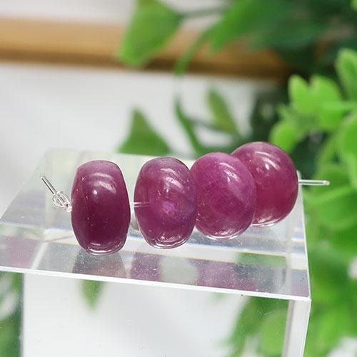 ルビー AA++ ボタン 約4.5×8.3mm程度 009-0