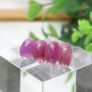 ルビー AA++ ボタン 約4.3×8.3mm程度 010