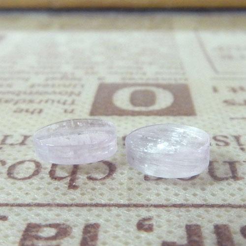 クンツァイト AAA- オーバル 約7.5×9.5mm程度 007-0