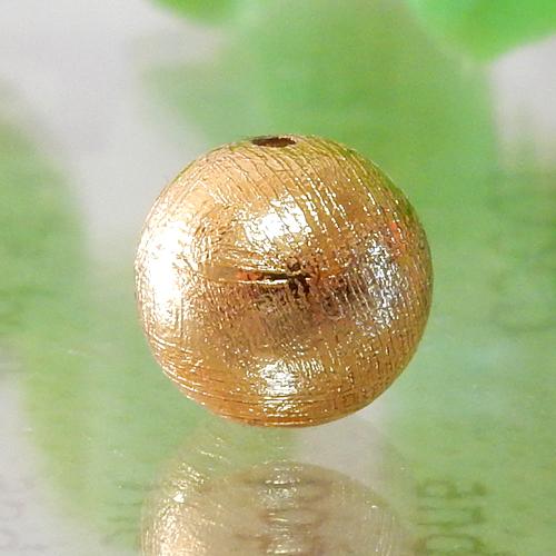 メテオライト(ギベオン)ゴールド ラウンド 8mm 017-0
